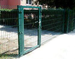 """Комплект ворот с калиткой """"Сварная Сетка"""" 1.5 м"""