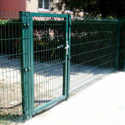 """Комплект ворот с калиткой """"Сварная Сетка"""" высота 1,96 м RAL 6005 (зеленый)"""