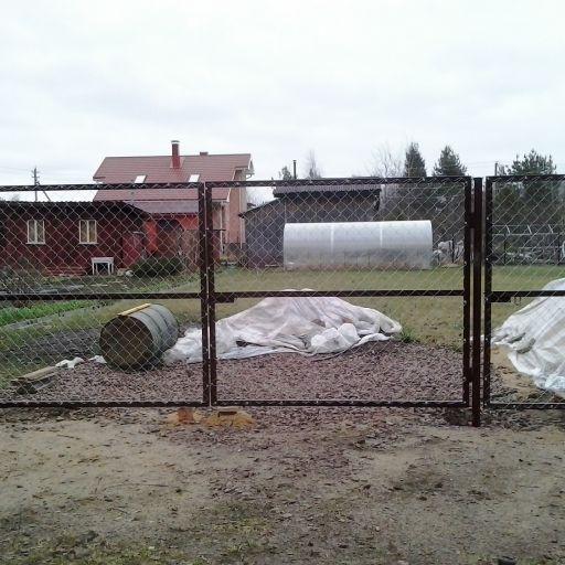 """Комплект ворот с калиткой """"Каркас"""" высота 1,96 м. RAL 6005 (зеленый)"""