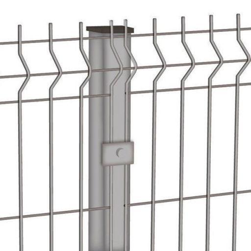 Столб профильный для сварной сетки и секции 3D оцинкованные 48 мм х 48 мм / 1,2 мм / 2,3м