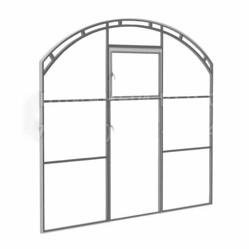 Перегородка с дверью для теплиц ВЕСНА 2Д
